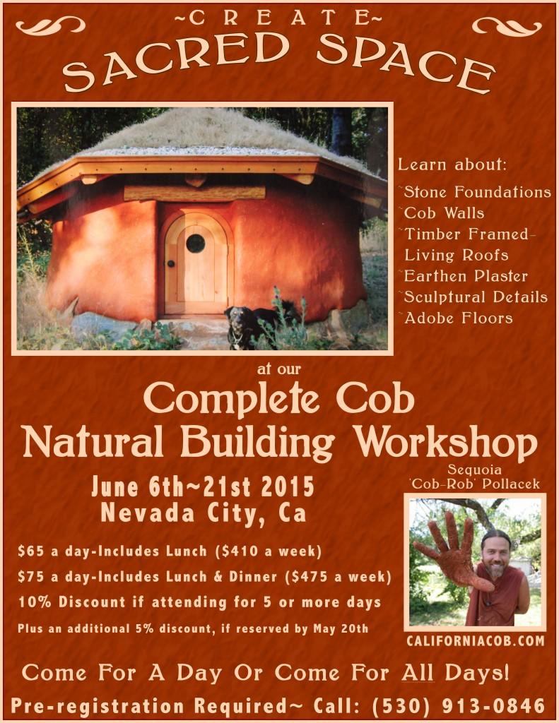 california cob, natural building, cob workshops, natural building workshops